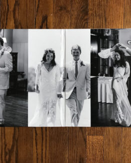 Wedding gatefold cover