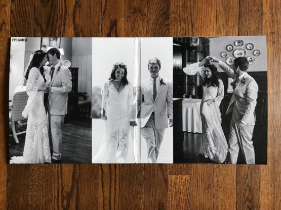 Wedding gatefold cover