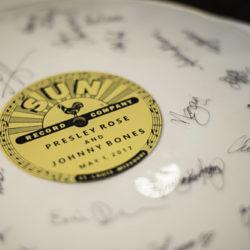 Vinyl record guestbook